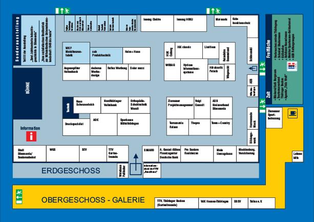Hallenplan für die 25. SÖM 2018